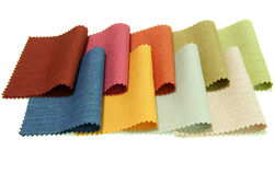 Multicolor tone of fabric sample on white Royalty Free Stock Images