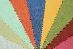Multicolor tone of fabric texture sample Stock Images