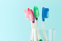 Multicolor toothbrushes Royalty Free Stock Images