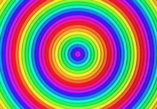 Multicolor torus pattern background. 3d illustration Stock Images
