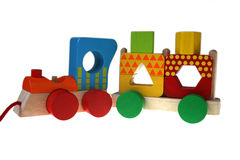 Multicolor train Stock Photos