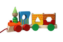 Multicolor train 7 Stock Image
