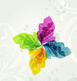 Multicolor transparent floral background Stock Photos