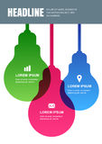 Multicolor transparent lamp, vector design template. Concept for Stock Photo