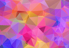 Multicolor triangle abstract background Royalty Free Stock Photography