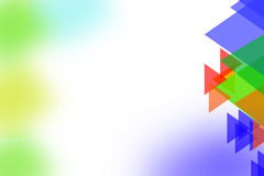 Multicolor triangle shape overlaping left side, abstrack background Royalty Free Stock Image