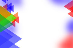 Multicolor triangle shape overlaping right side, abstrack background Royalty Free Stock Photography