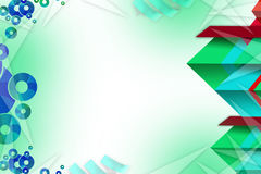 Multicolor triangle shape overlaping right side, abstrack background Royalty Free Stock Images