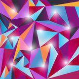 Multicolor triangle texture Stock Photography