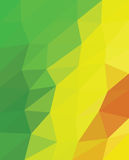 Multicolor triangles. Multicolor green , yellow and red triangels. Multicolor origami style triangels Royalty Free Stock Photos