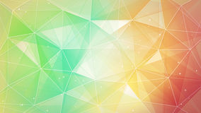 Multicolor triangles and lines pattern Stock Photography