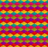 Multi=color triangles and rhombus pattern seamless background vector. Repeat triangles, rhombus and hexagon pattern background stock illustration