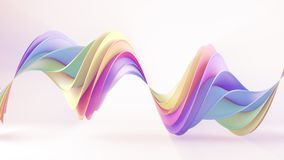 Multicolor twisted 3D shape. Multicolor twisted shape. Computer generated abstract geometric 3D render illustration royalty free illustration