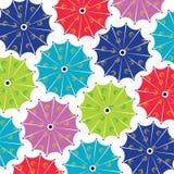 Multicolor umbrella seamless pattern - Vector background. Illustration vector illustration