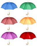 Multicolor umbrella set Stock Image