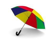 Multicolor umbrella on white background Royalty Free Stock Photo