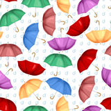 Multicolor umbrellas pattern seamless Stock Images