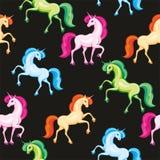 Multicolor unicorn pattern Stock Image