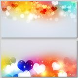 Valentines Day Multicolor Banners Royalty Free Stock Photo