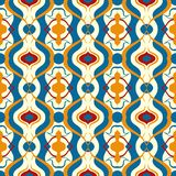 Multicolor vector pattern with Arabic motif. Stock Photo