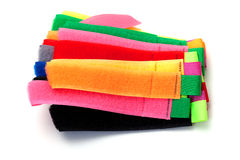 Multicolor velcro straps Stock Images