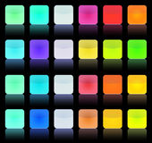 Multicolor vintage button. Multicolor vitnage buttons squares for the web royalty free illustration
