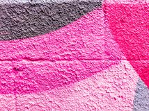 Multicolor of violet and pink watercolor hand painted on street wall art. Abstract ars background royalty free stock photo
