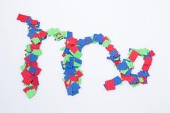 Multicolor virgo символа зодиака изолированное в белой предпосылке Стоковая Фотография