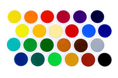 Multicolor water colors Royalty Free Stock Photo