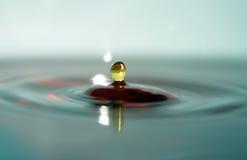 Multicolor Water Macro. Multicolor water drop royalty free stock image