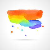 Multicolor watercolor cloud, vector  Stock Image