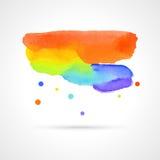 Multicolor Watercolor Cloud, Vector Stock Image