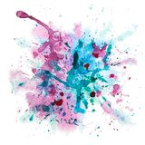 Multicolor watercolor splash Stock Photos