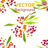 Multicolor Watercolor Vector Flowers Royalty Free Stock Images