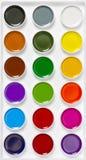 Multicolor watercolour farby Zdjęcie Royalty Free