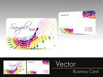 Multicolor wave background business card. Collection of horizontal vector business cards templates in multicolors Stock Photography