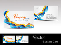 multicolor wave concept business card, vector illu Stock Image