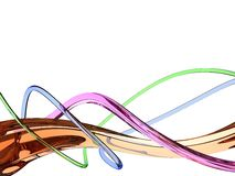 Multicolor waves. A computer generated background with multicolor waves royalty free illustration