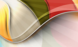 multicolor waves för bakgrundsdesign vektor illustrationer
