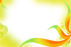 Multicolor waves right side, abstrack background Stock Photo