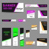 Multicolor web banner size templates Royalty Free Stock Image