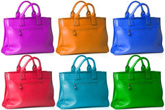 Multicolor woman bags Royalty Free Stock Image