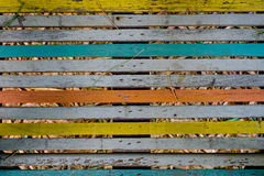 Multicolor Wood Background Stock Photo