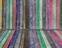 Multicolor wooden interior. Interior room Royalty Free Stock Photography