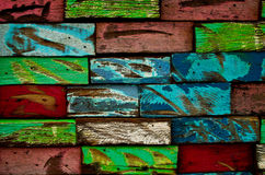 Multicolor Wooden Wall Royalty Free Stock Image