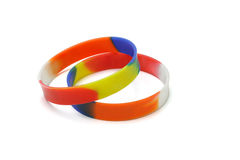 Multicolor wrist bands Royalty Free Stock Images