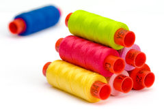 Multicolor yarn bobbins Royalty Free Stock Image