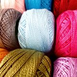multicolor yarn roll royalty free stock photo