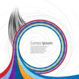 Multicolor zawijasa abstrakcjonistyczny tło z spirala wzorem Ilustracja Wektor