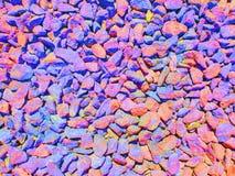 Multicolor zdruzgotany kamień: czerwień, zieleń, błękitny kolor, tło, tekstura obrazy stock